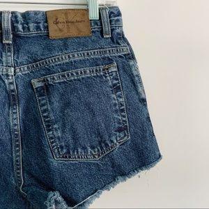 Retro Calvin Klein Women's Cutoff Denim Shorts